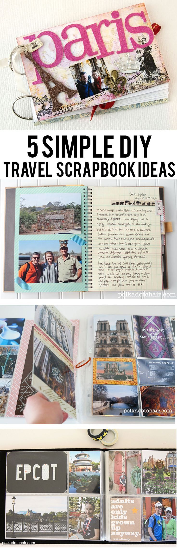5 Simple Ways to Create a Travel Scrapbook | All Time Favorite