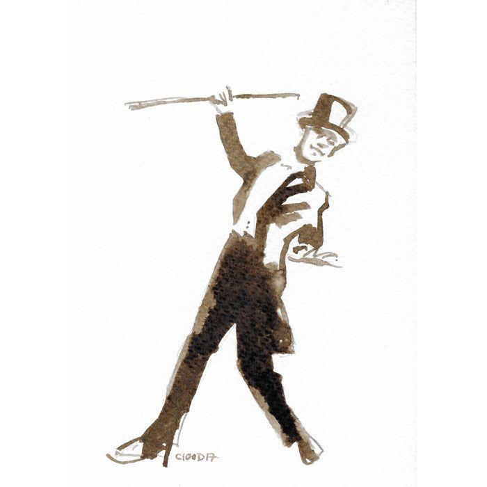 Quick ink sketch - Walnutstain - Fred Astair - Tap dance - Dance