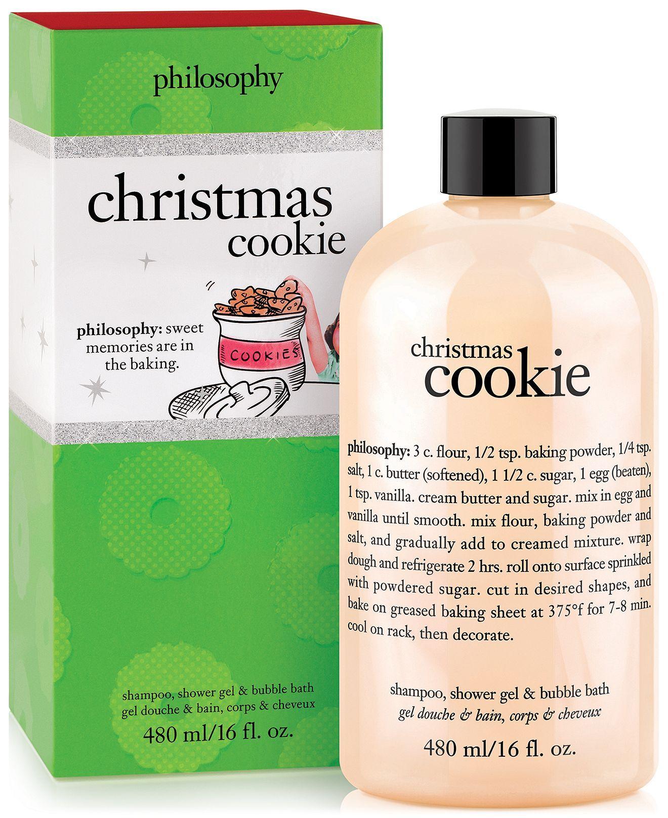 Philosophy Christmas Cookie Shower Gel 16 Oz Bath Body Beauty Macy S Philosophy Shower Gel Shower Gel Christmas Cookies