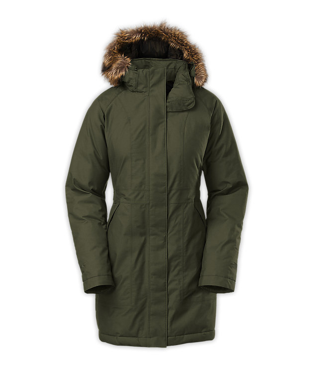 9ac96e6139 The North Face Women s Arctic Parka in Forest Green.