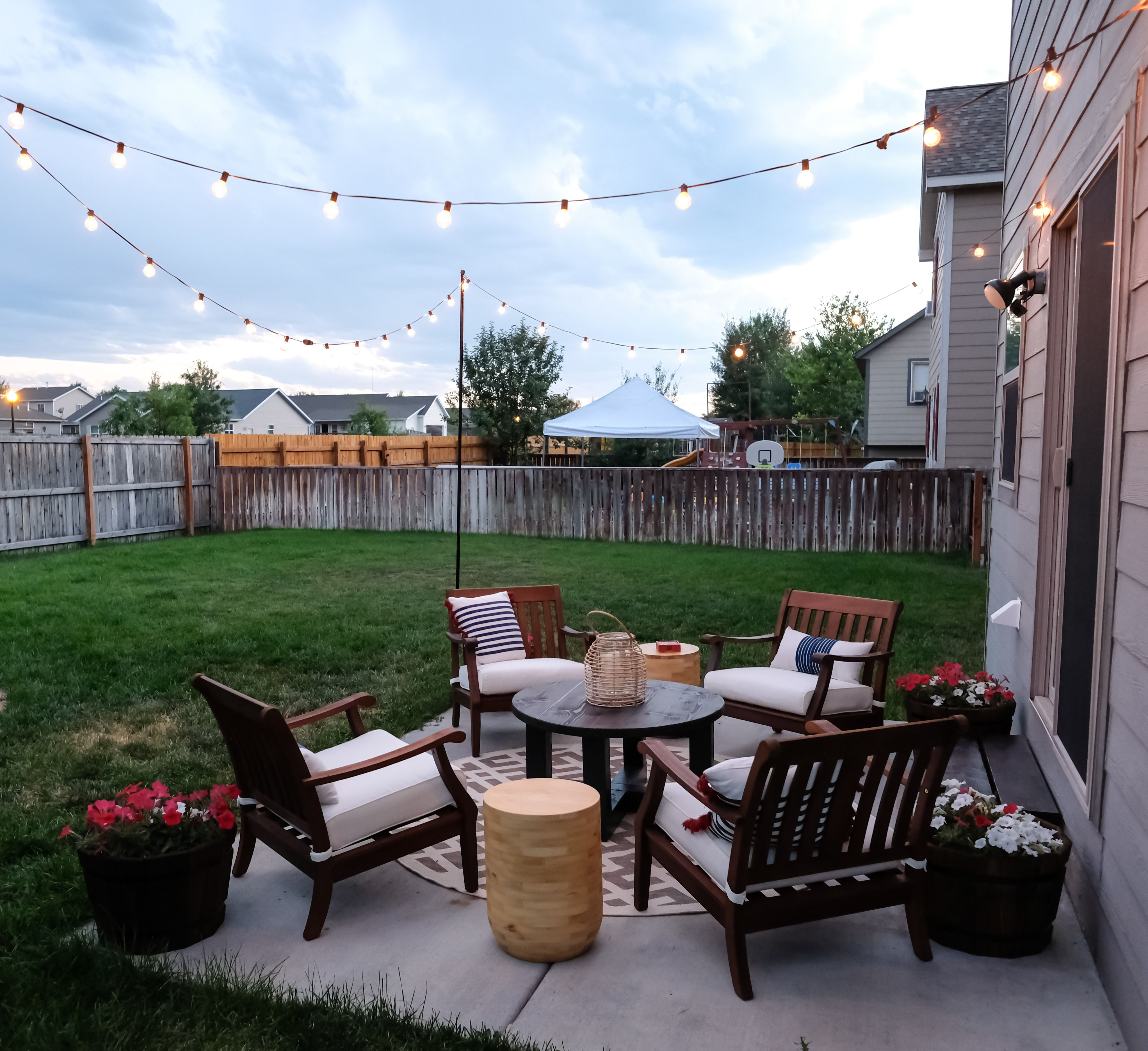 Patio Makeover On A Budget How It Looks After Is Amazing Patio Makeover Small Patio Design Small Outdoor Patios