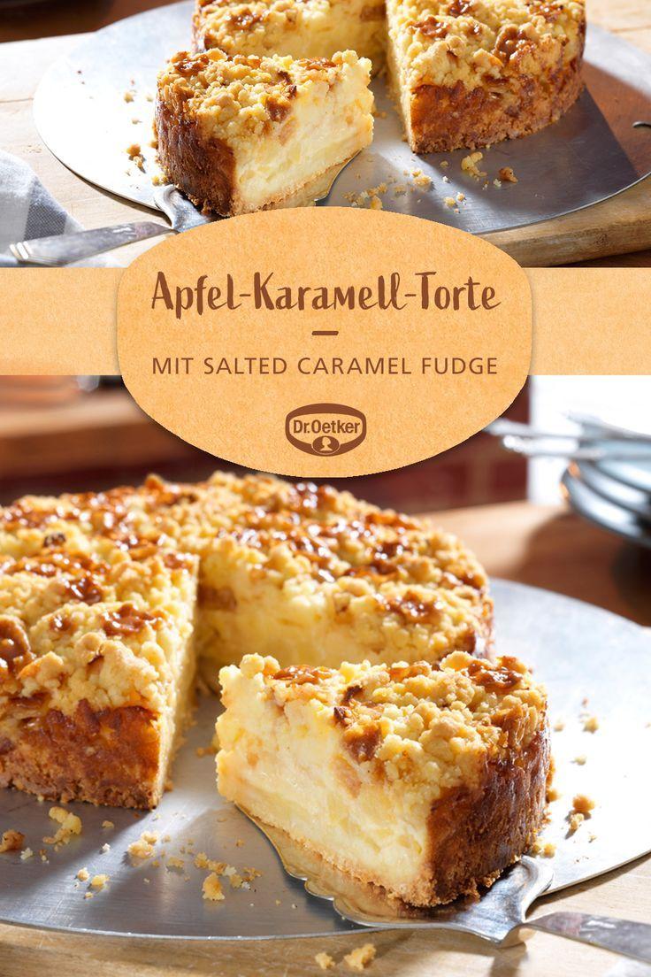 Kleine Apfel-Karamell-Torte #schnelletortenrezepte
