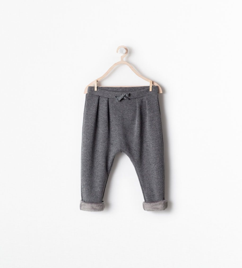 ZARA - KIDS - FUR LINED DRAWSTRING TROUSERS