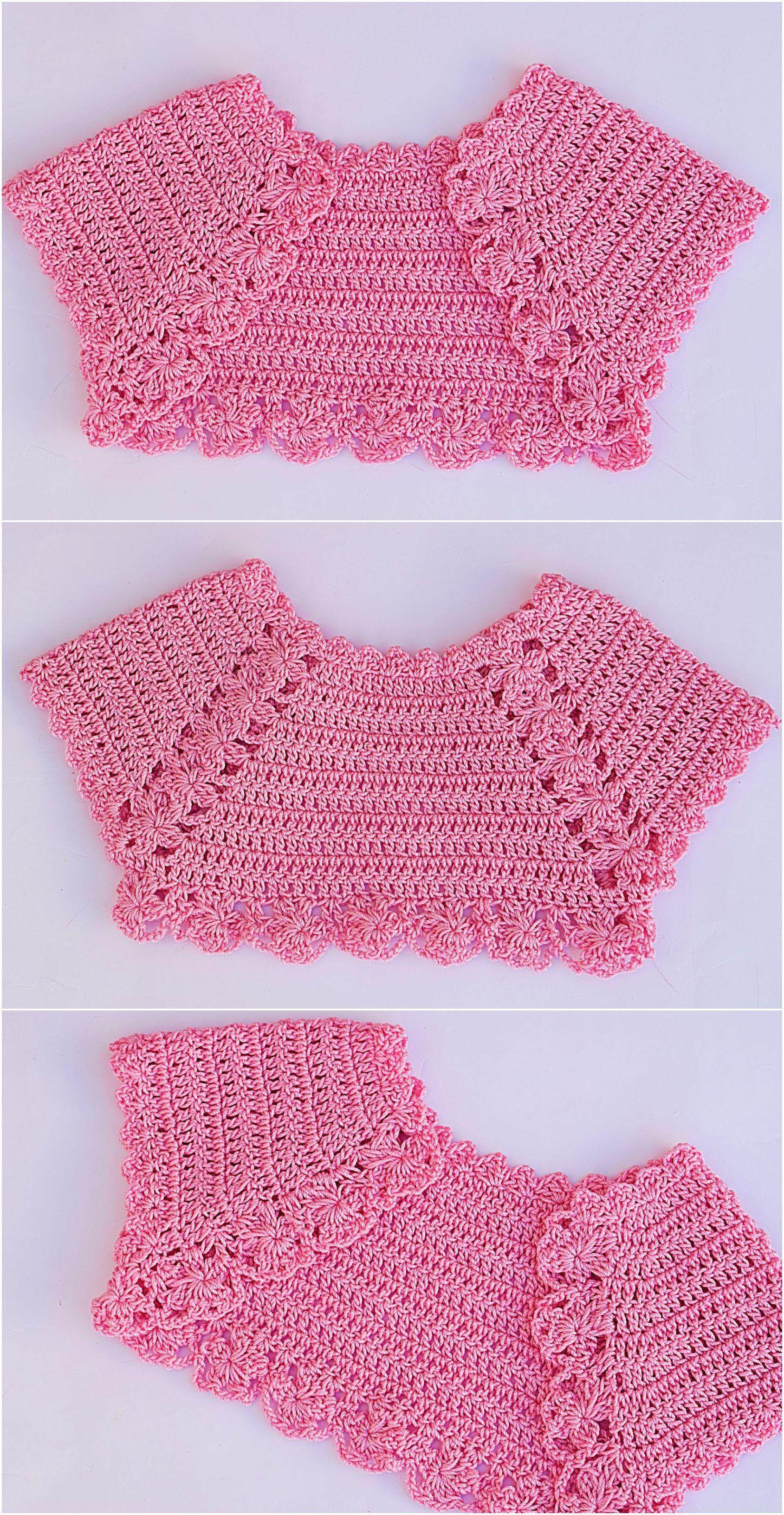 Crochet Baby Girl Bolero Crochet Babyclothespatterns Babyclothes Babysweater Babyshoes Babyblanket Baby Baby Knitting Patterns Krose Ust Serbest Orgu