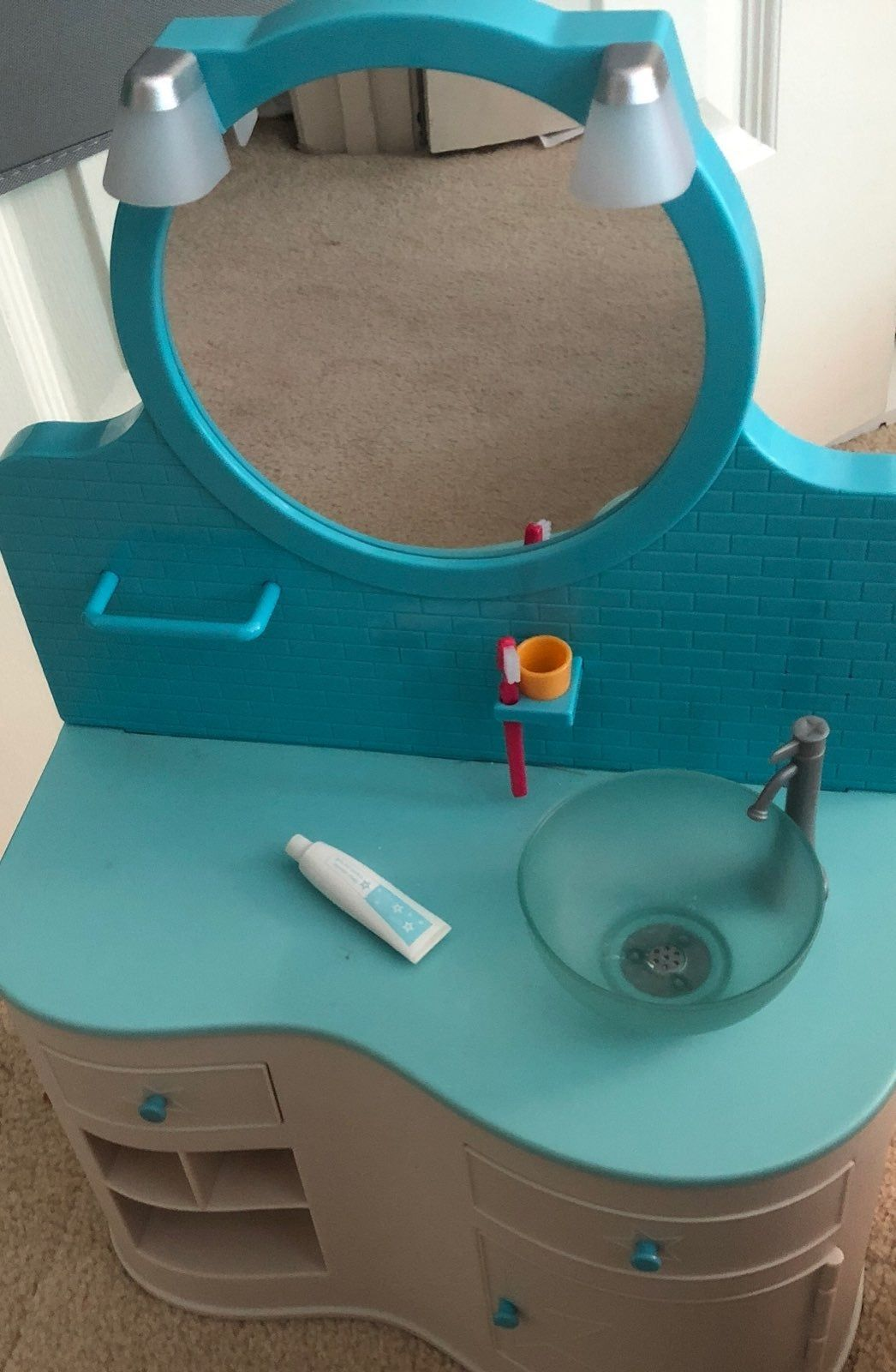 American Girl Doll Crafts And Fun Doll Bathroom Vanity Sink