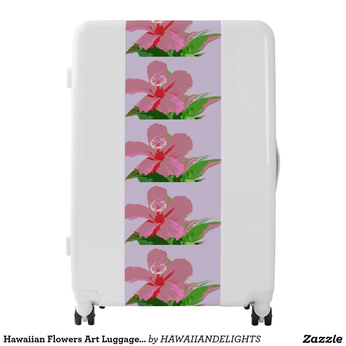 Hawaiian flowers art luggage suitcase pinterest suitcase and hawaiian flowers art luggage suitcase izmirmasajfo