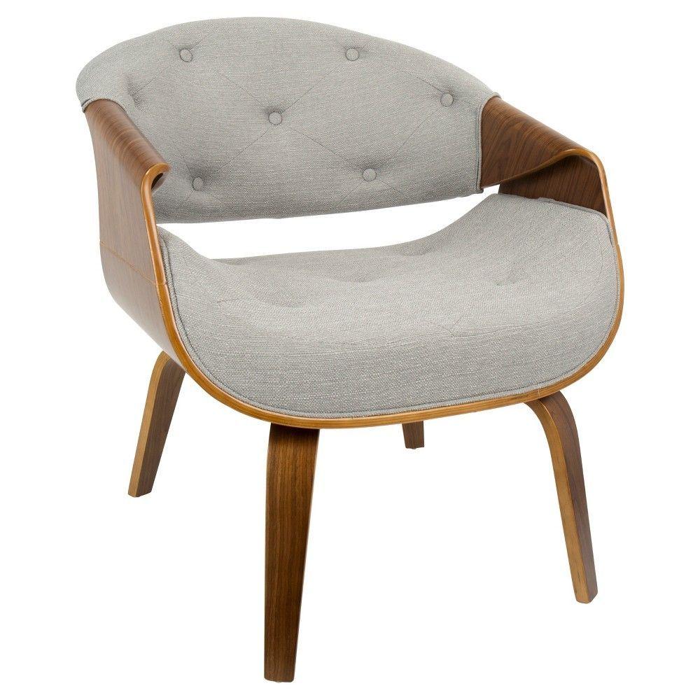 Curvo Mid Century Modern Accent Chair   Grey   Lumisource