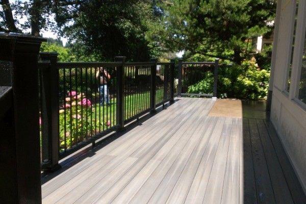Deck Colors For Grey House Fiberon Composite Deck In Grey Birch Deck Colors Backyard Plan Composite Decking