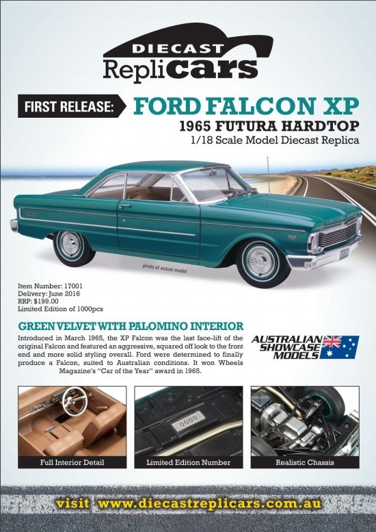 1 18 scale ford xp falcon coupe in green velvet with palomino interior this model is a sealed. Black Bedroom Furniture Sets. Home Design Ideas