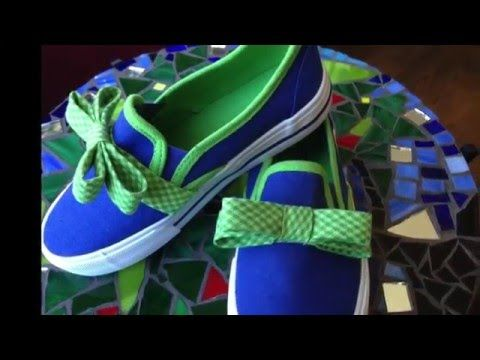 Adorable for girls. Would use an oversized and asymmetrical bow for a woman to eliminate the cute-sy factor. Lots of ideas for asymettrical bow shoes on my 'DIY Shoes' Pinterest board. This is a great beginner sewist project - and great project for kids. DIY Slip-on Sneakers