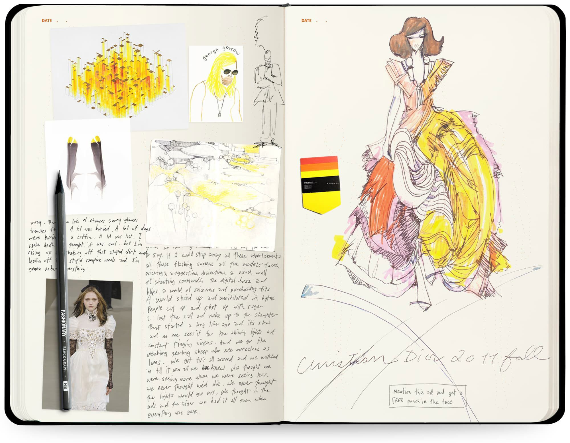 A Complete Guide To Fashion Sketchbooks