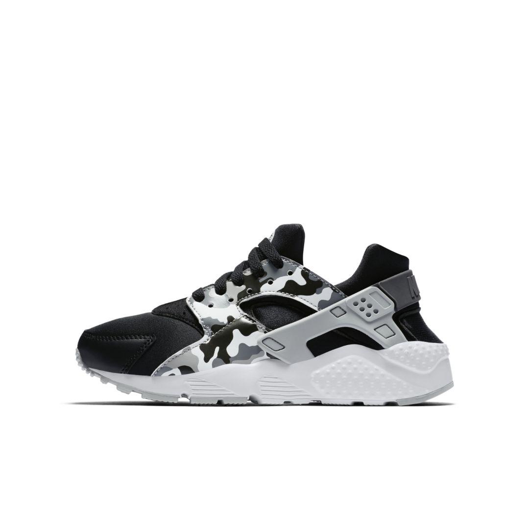 8a754238303 Nike Huarache Run Print Big Kids  Shoe Size 5.5Y (Black)