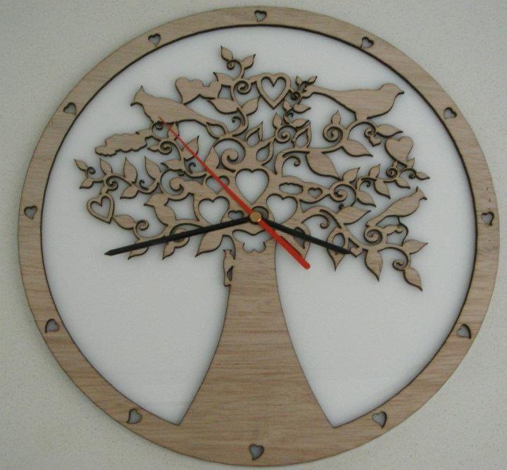 Whats cutting - Spring tree clock - laser cutting design