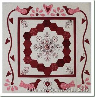 Helen Stubbing4 Hexagon Quilt Quilted Wall Hangings