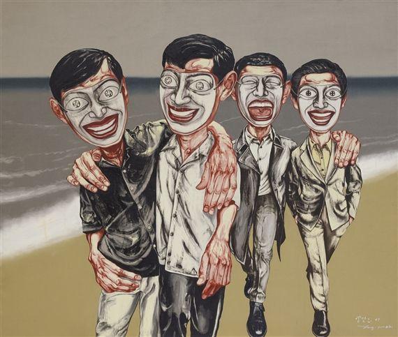 MASK SERIES-4, Zeng Fanzhi (曾梵志; b1964, Wuhan, Hubei Province, China; based in Beijing)