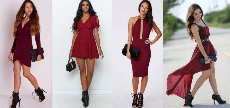 Stylizacje Bordo High Low Dress Dresses Fashion