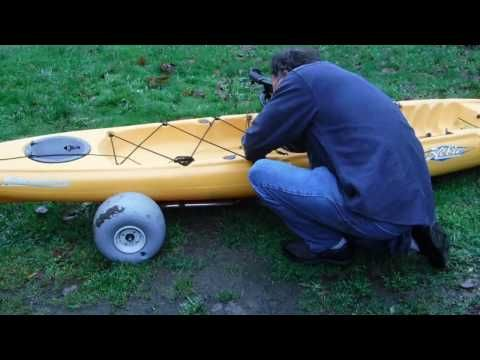Hobie Kayak Scupper Cart Hack No Tipping Your Boat On Its Side - YouTube