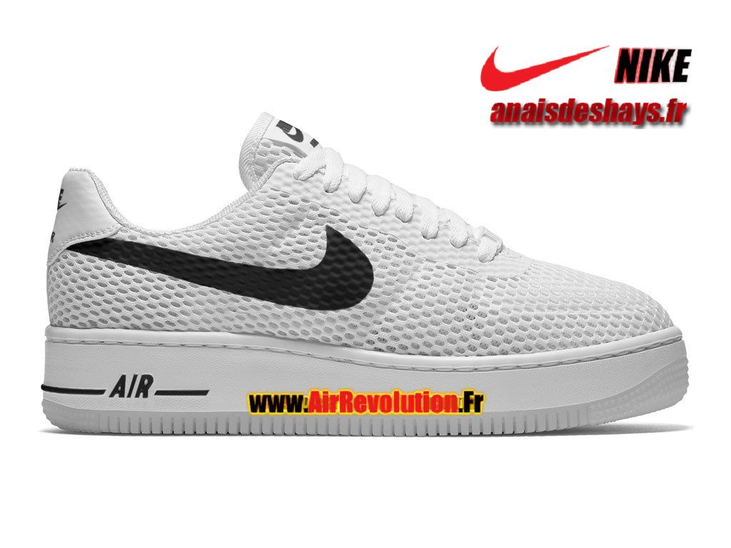 new styles 850fe 37d14 Boutique Officiel Nike Wmns Air Force 1 Low Upstep BR Femme Enfant  Blanc Noir Blanc 833123-010iD