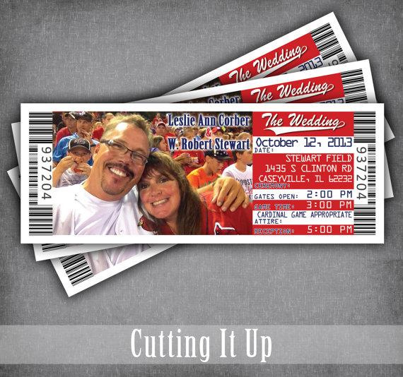 Baseball Wedding Invitation Ticket With Rsvp Card Softball Etsy Baseball Wedding Invitation Baseball Wedding Ticket Wedding Invitations