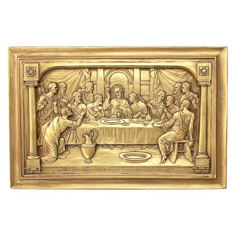 Design Toscano Jesus And The Apostles Last Supper Wall Sculpture Last Supper Wall Sculptures Design Toscano