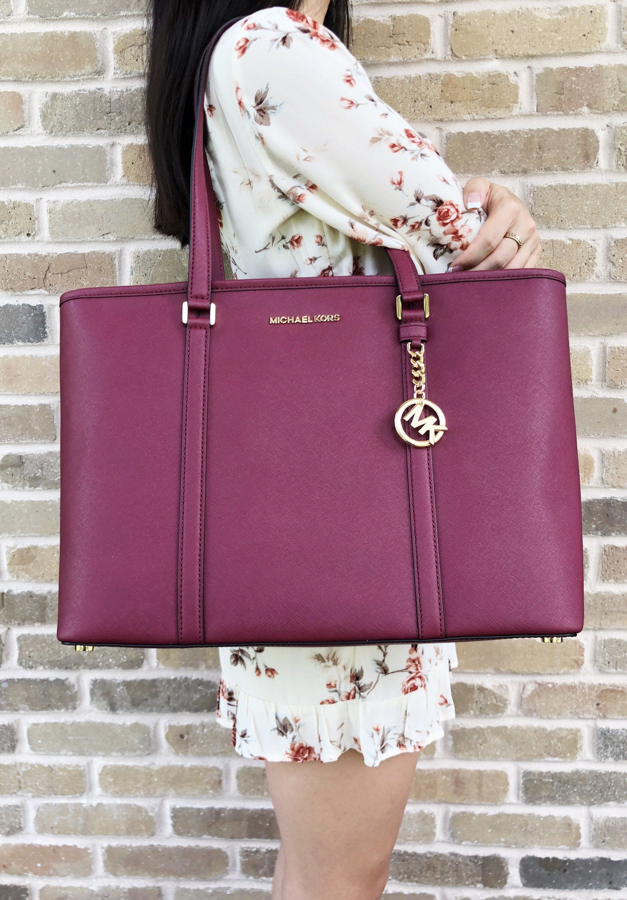 560dd55d37 Michael Kors Sady Large Multifunctional Top Zip Tote Mulberry Laptop Bag   MichaelKors  MK  Handbags