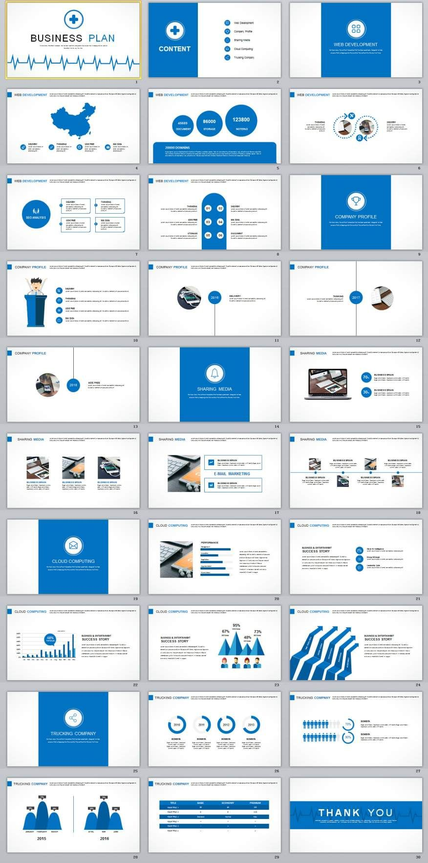 30+ Best Business plan PowerPoint templates Business