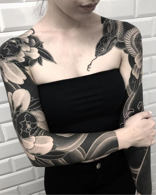 By lupo horiokami sleeve tattoos for women