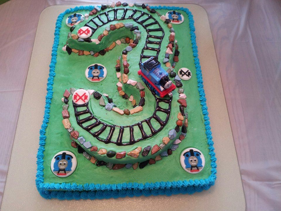 Third Birthday Cake, Thomas the Tank Engine. (for Russell)
