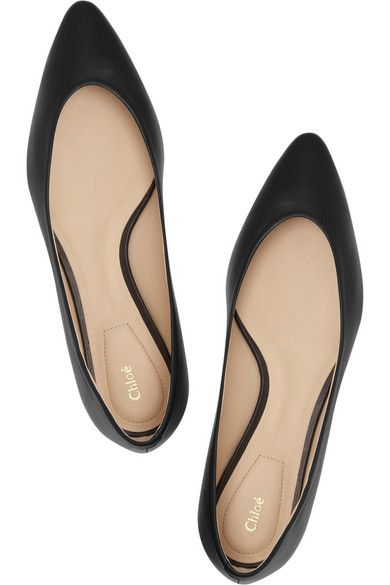Chloé | Leather pointed flats | NET-A
