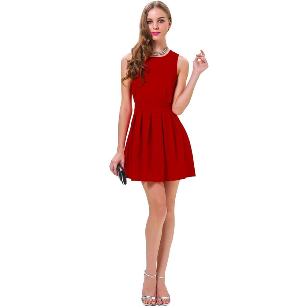 Wanna be the center of the dinner party? Wanna be eye-catching on your date? This  #womenminidress is the best choice! With red color and cut-out back design, you can  be the most attractive present!