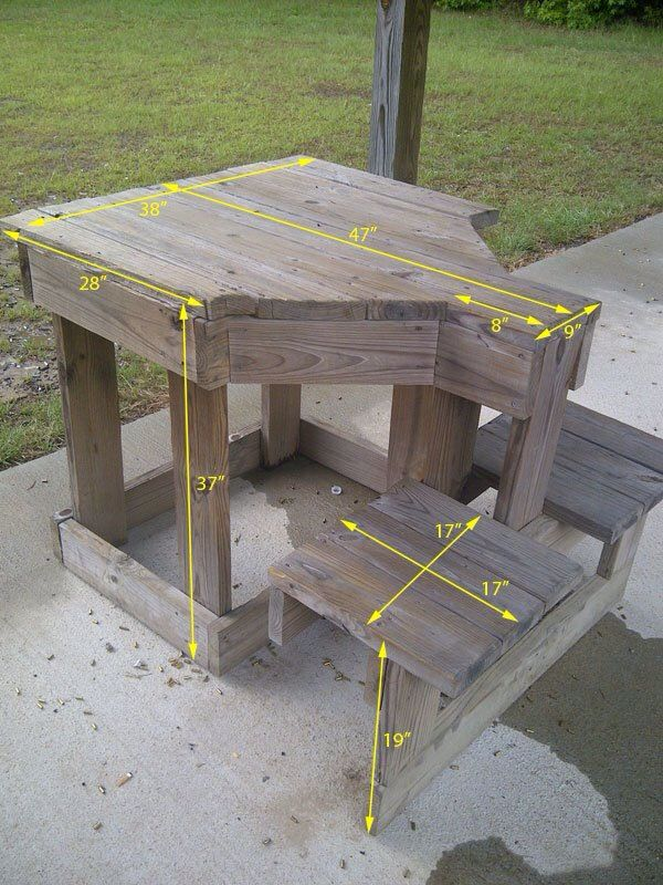 2 person shooting bench idea woodworking projects shooting bench rh pinterest com shooting table plans free shooting range table plans
