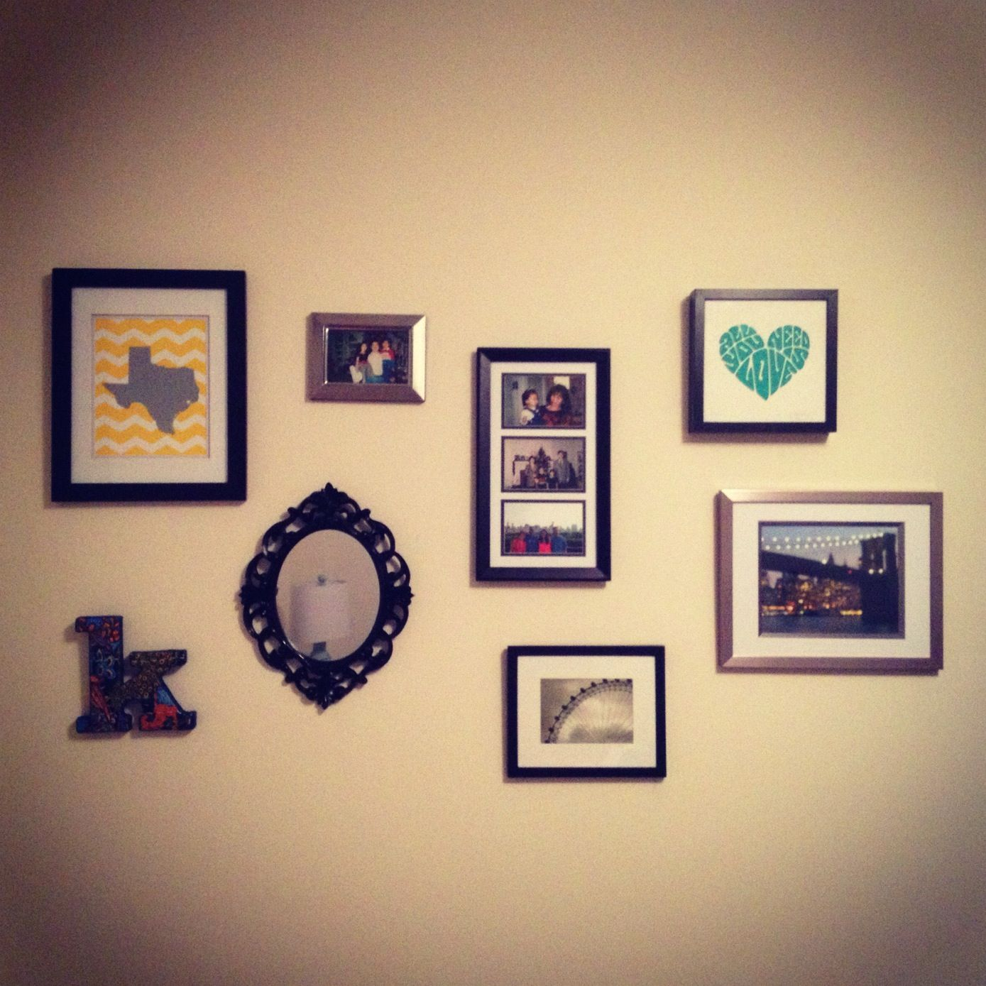 Wall collage decor...finally complete! | Apartment Pants...I Mean ...