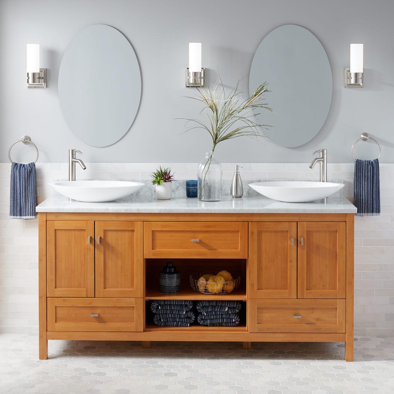 72 Alcott Bamboo Double Vessel Sink Vanity