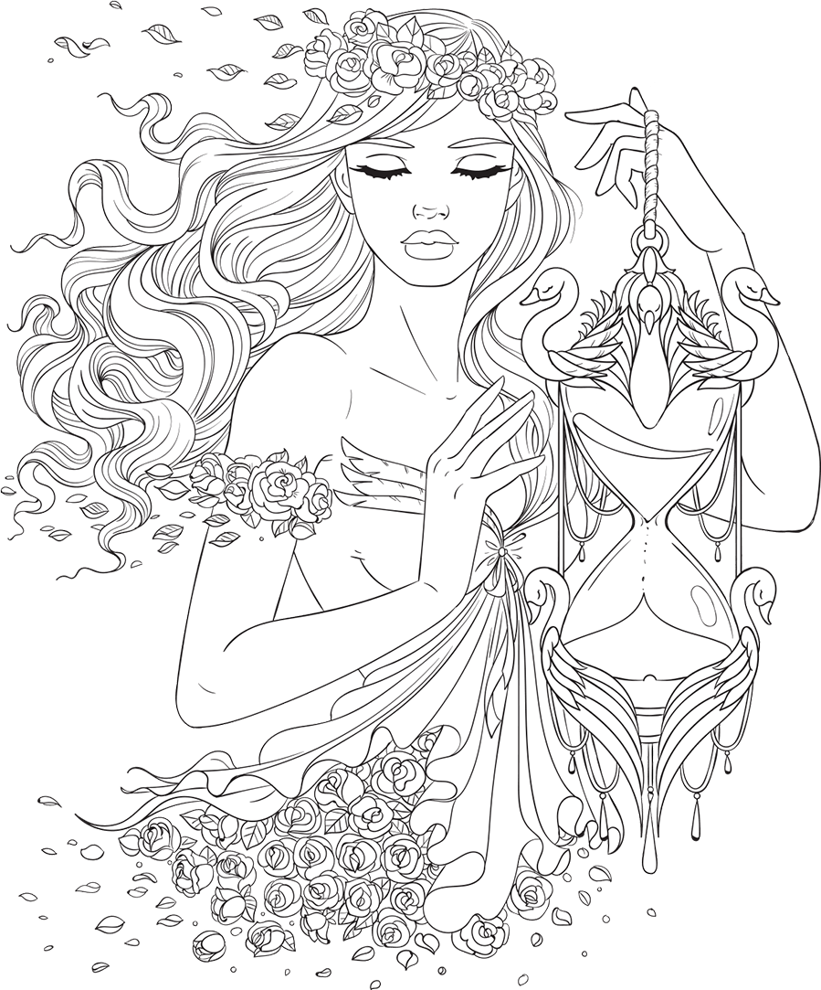 Free Printable Coloring Pages At Scentos Com Cute Girl Coloring Pages To Download And Print Fruit Coloring Pages Coloring Pictures For Kids Food Coloring Pages