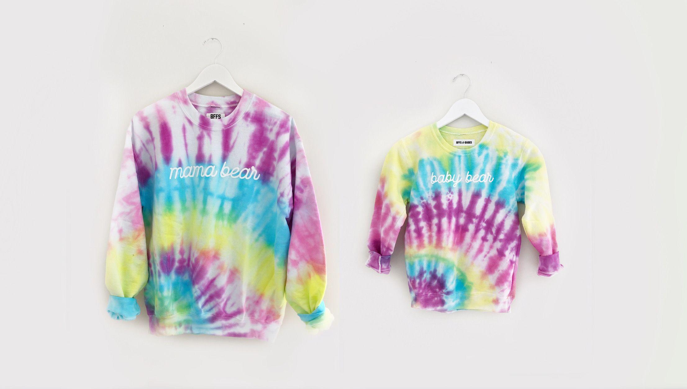 Mama Bear Baby Bear Sweatshirts Mama Bear Tie Dye Sweatshirt Tie Dye [ 1254 x 2212 Pixel ]