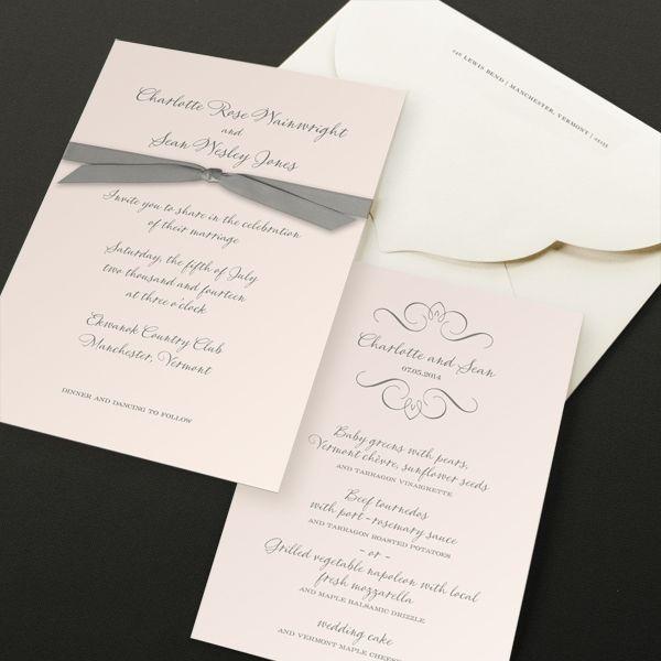 William Arthur Scriptura Gold Engraved Monogram Wedding Invitation Monogram Wedding Invitations Wedding Invitations Monogram Wedding