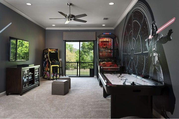Awaken The Force With A Star Wars Game Room In 2019 Star
