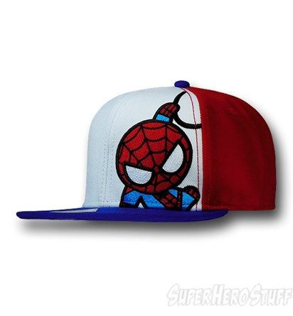 669708ff5c5 So cute! Spiderman Kawaii Snapback Cap. I need this I wear with my matching  tee!