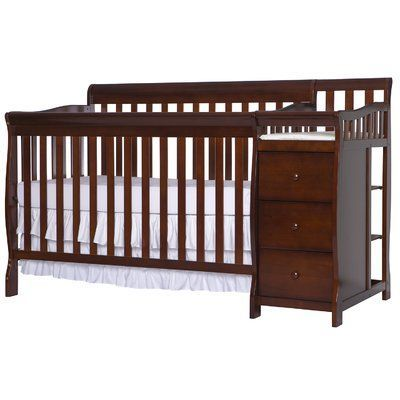Dream On Me Brody 5 In 1 Convertible Crib With Changer Crib And Changing Table Combo Crib With Changing Table Convertible Crib