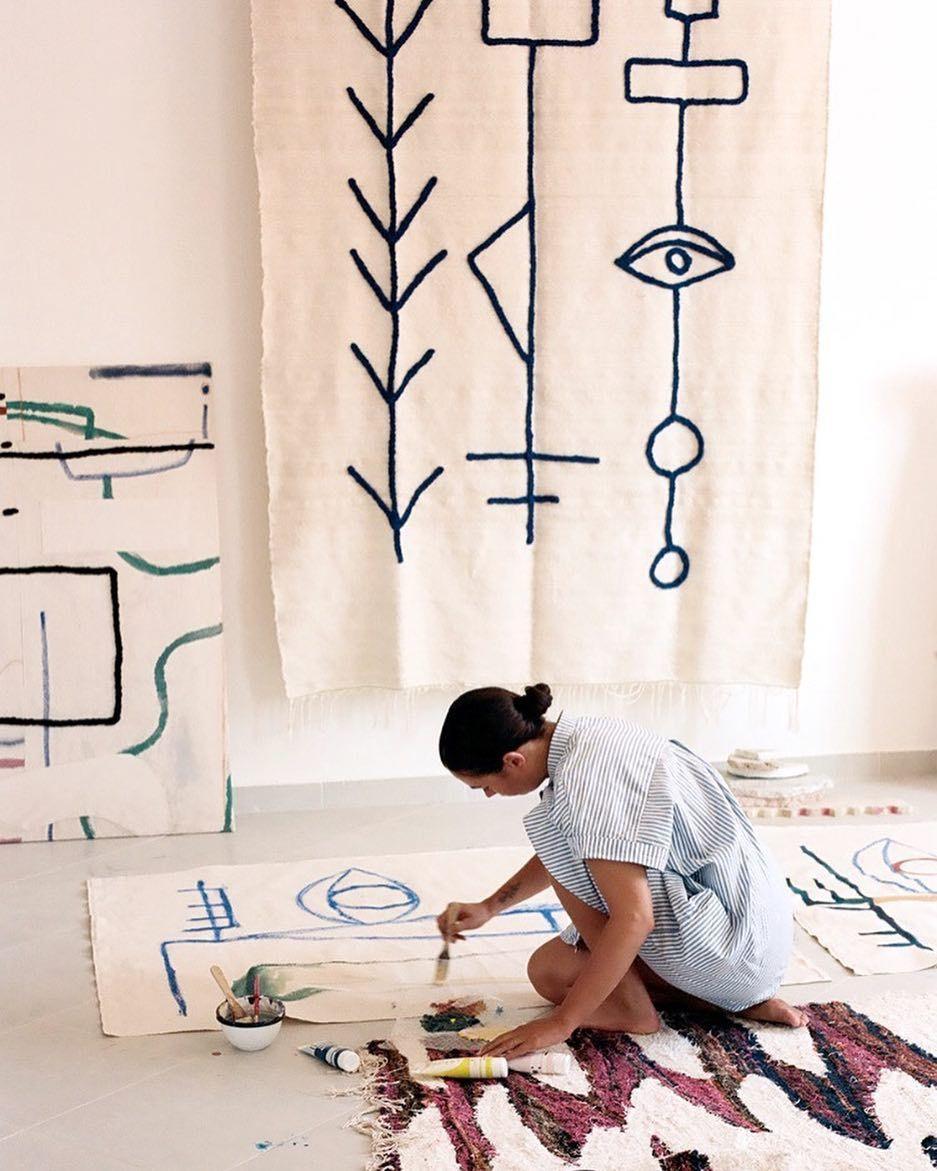 Studio Marrakech Sabbar Blanket Photo By Eva Donckers E Donckers Lrnce Studio Marrakech Textiles Embroidery P Textile Artists Inspiration Art Studios