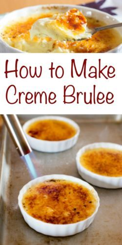 Classic Creme Brulee is made from just four ingredients, heavy cream, egg yolks, sugar, and vanilla; resulting in a rich custard topped with a layer of hard caramel.