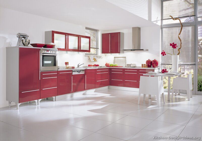 #Kitchen Idea Of The Day: Red Reminds Us Of Roses, Race Cars, Part 37
