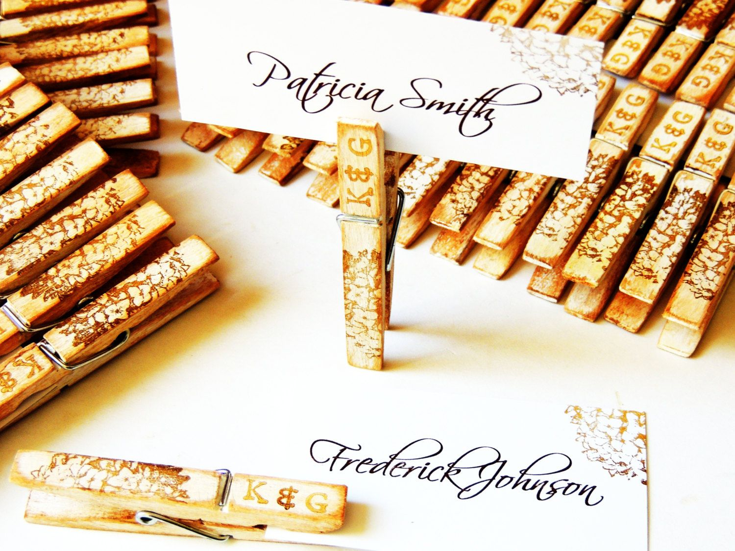 Wood Wedding Placecard Holder Missy Not For Place Cards But Signs And Etc Just To Dress Up The Clothes Pins