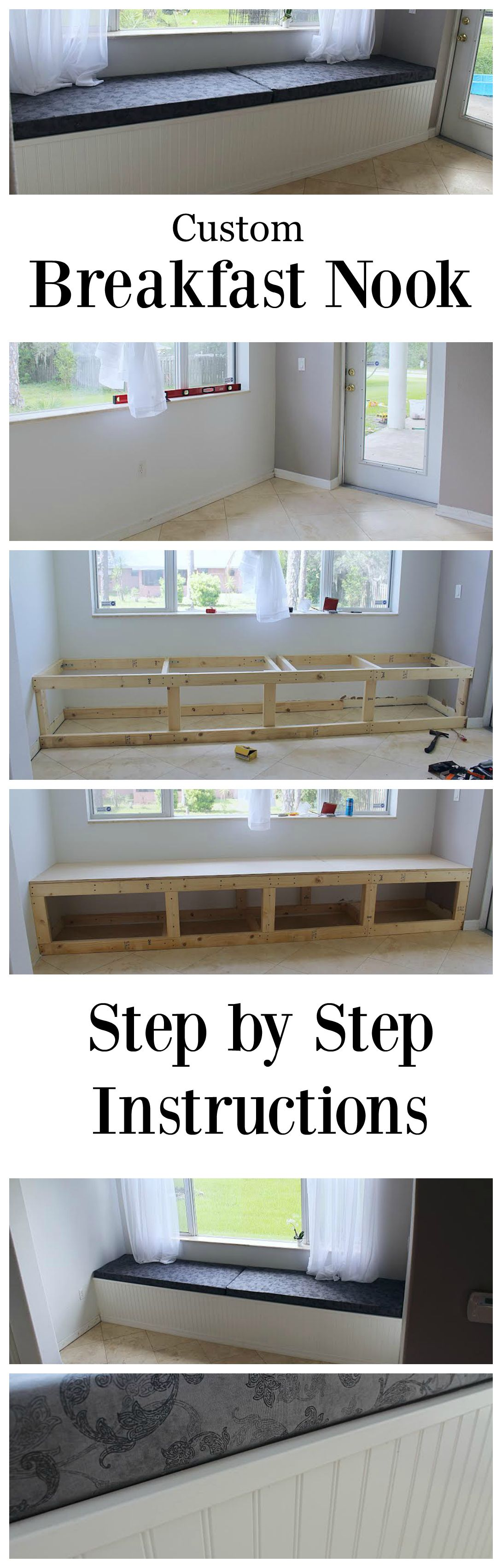 How To Build A Custom Breakfast Nook For Your Home Step By Step Photos Diy Kitchen Table Breakfast Nook Furniture Diy Breakfast Nook
