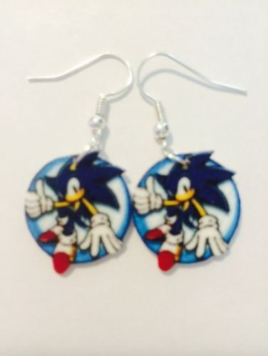 Sonic The Hedgehog Earrings Handmade Plastic Charms Video R Sega Geek In Jewelry Watches Ebay