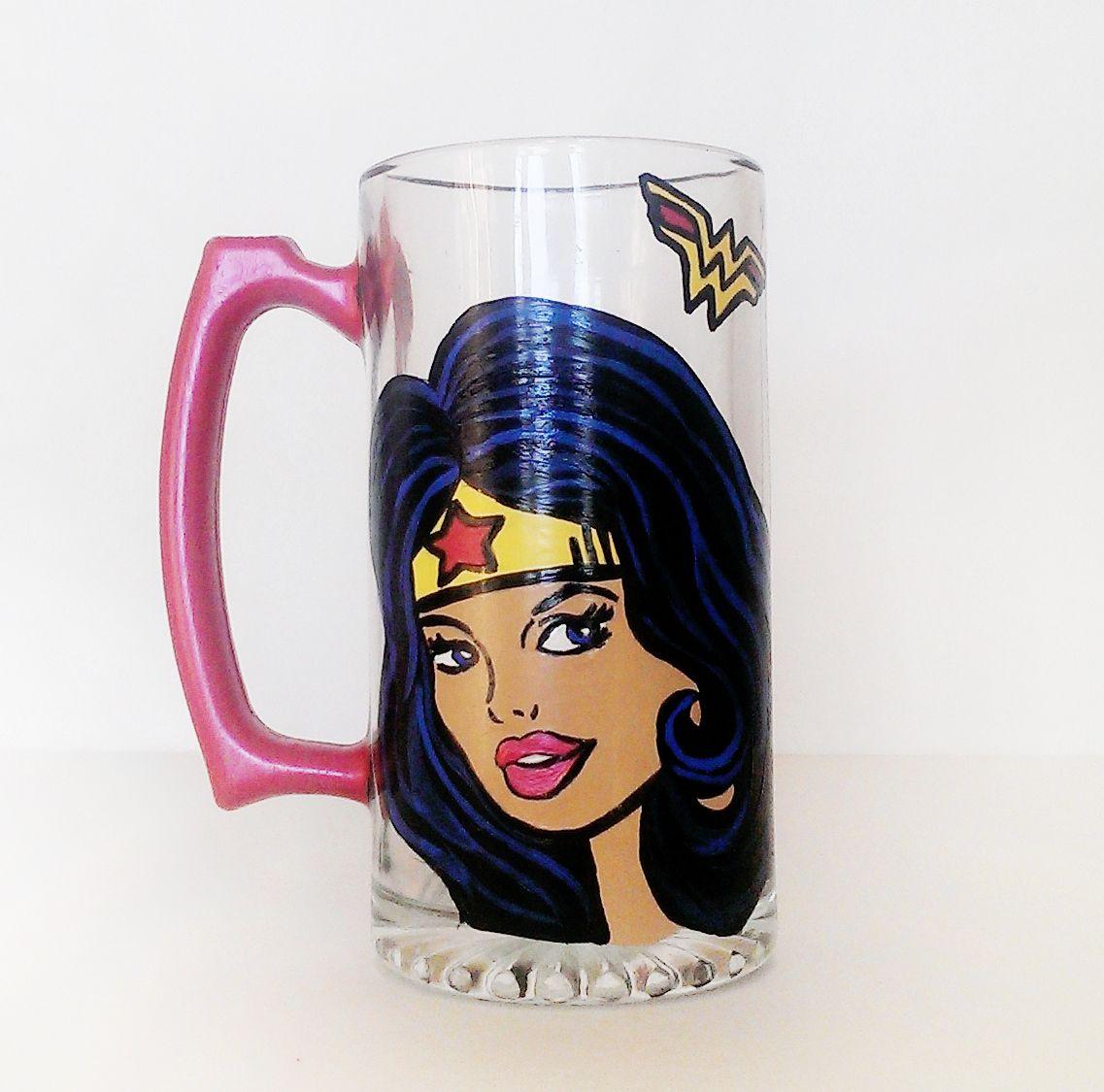 Wonder Woman Beer Mug http://creativeboozing.com/
