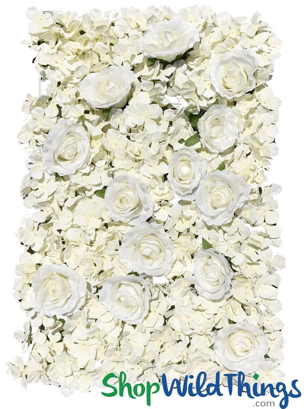 Option 4 Off White Rose Hydrangea Mix Flower Wall Wedding Hydrangeas Wedding Flower Wall