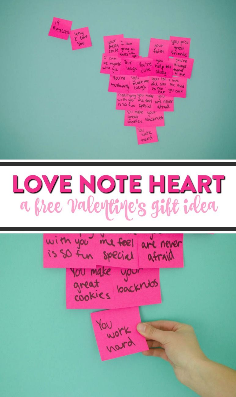 Diy Love Note Heart A Little Craft In Your Day Diy Valentines Crafts Valentines Diy Inexpensive Valentines Day Ideas