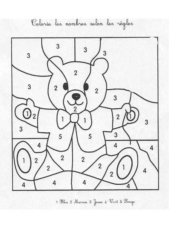 Un coloriage magique pour apprendre les chiffres en s'amusant. Un moyen ludique de faire des ...