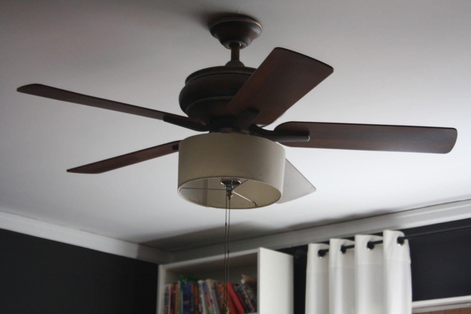 1 Fan Ceiling Fan Makeover Diy Drum Shade Ceiling Fan Diy
